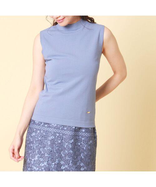 Rose Tiara / ローズティアラ ニット・セーター | コットン混ニットプルオーバー(ブルー)