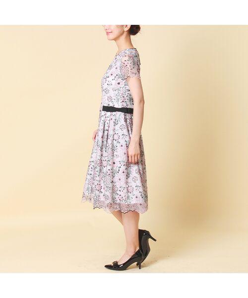 Rose Tiara / ローズティアラ ミニ丈・ひざ丈ワンピース   フラワーチュール刺繍ワンピース   詳細3