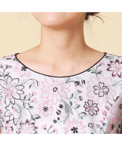 Rose Tiara / ローズティアラ ミニ丈・ひざ丈ワンピース   フラワーチュール刺繍ワンピース   詳細5