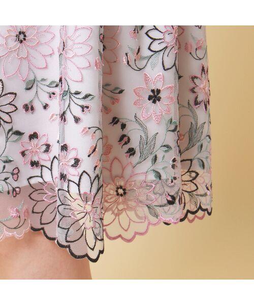 Rose Tiara / ローズティアラ ミニ丈・ひざ丈ワンピース   フラワーチュール刺繍ワンピース   詳細7