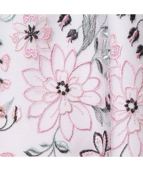 Rose Tiara / ローズティアラ ミニ丈・ひざ丈ワンピース   フラワーチュール刺繍ワンピース   詳細9