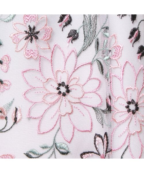 Rose Tiara / ローズティアラ ミニ丈・ひざ丈ワンピース   フラワーチュール刺繍ワンピース   詳細10