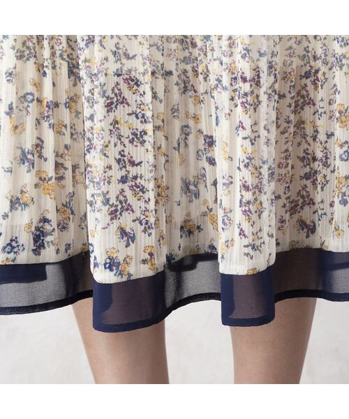 Rose Tiara / ローズティアラ ミニ丈・ひざ丈ワンピース   シフォンフラワープリーツワンピース   詳細8