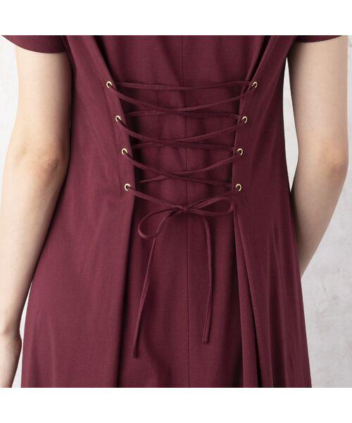 Rose Tiara / ローズティアラ ミニ丈・ひざ丈ワンピース | バック編上げカットソーワンピース | 詳細8