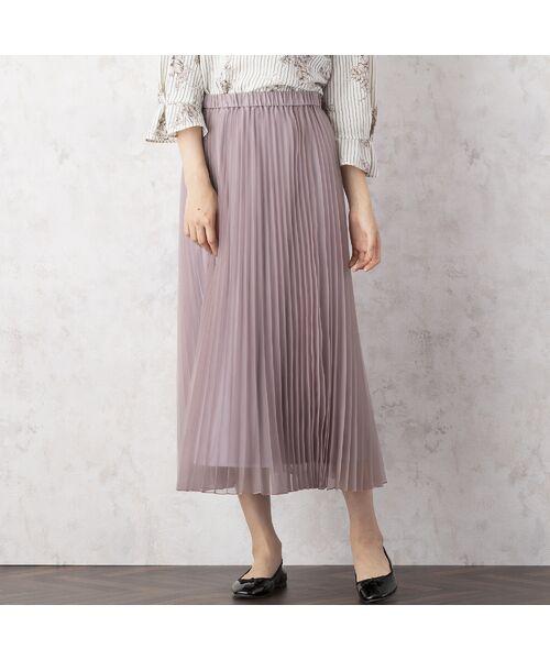 Rose Tiara / ローズティアラ ミニ・ひざ丈スカート   マットオーガンジープリーツスカート   詳細4