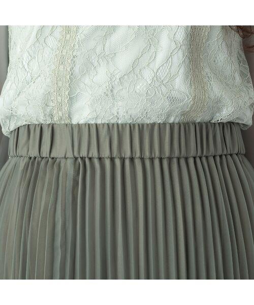 Rose Tiara / ローズティアラ ミニ・ひざ丈スカート   マットオーガンジープリーツスカート   詳細8