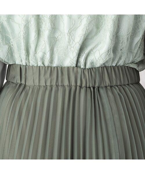 Rose Tiara / ローズティアラ ミニ・ひざ丈スカート   マットオーガンジープリーツスカート   詳細9