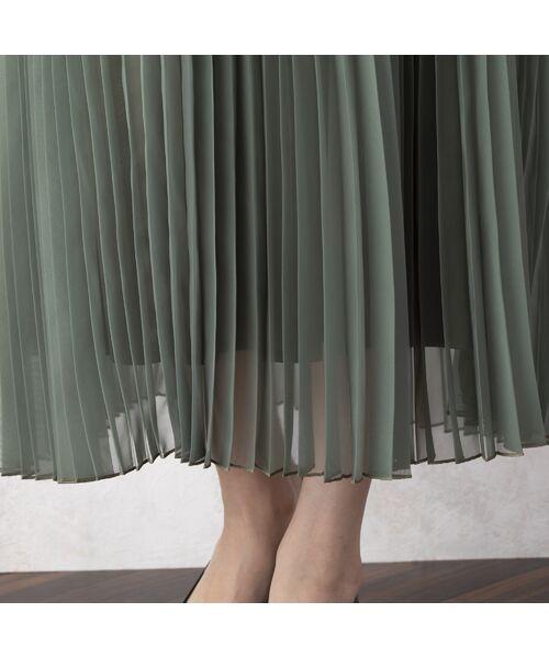 Rose Tiara / ローズティアラ ミニ・ひざ丈スカート   マットオーガンジープリーツスカート   詳細10