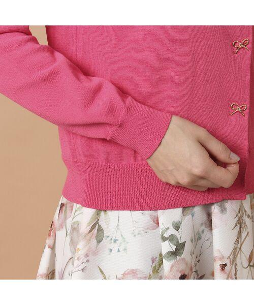Rose Tiara / ローズティアラ ニット・セーター | リボンモチーフニットカーディガン | 詳細12