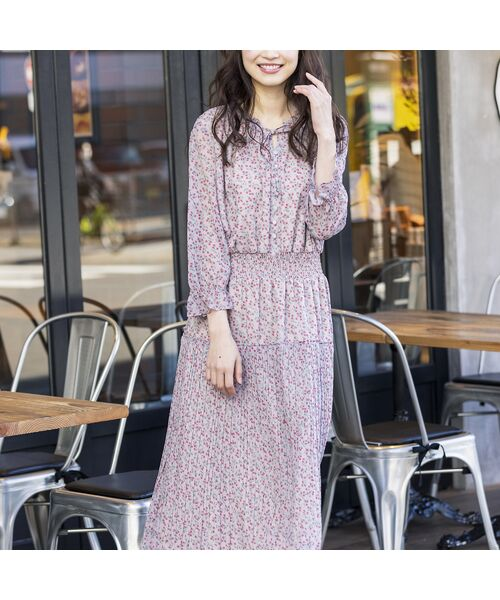 Rose Tiara / ローズティアラ ミニ丈・ひざ丈ワンピース | ベリープリントマキシワンピース | 詳細6