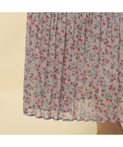 Rose Tiara / ローズティアラ ミニ丈・ひざ丈ワンピース | ベリープリントマキシワンピース | 詳細16