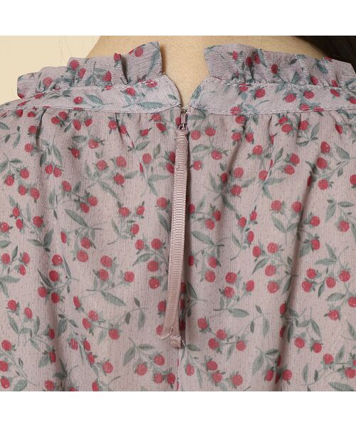 Rose Tiara / ローズティアラ ミニ丈・ひざ丈ワンピース | ベリープリントマキシワンピース | 詳細14