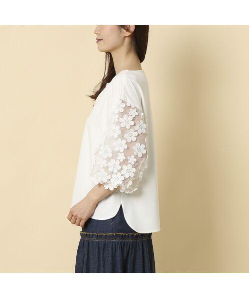 Rose Tiara / ローズティアラ シャツ・ブラウス   3D刺繍袖ブラウス   詳細4