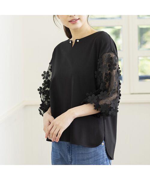 Rose Tiara / ローズティアラ シャツ・ブラウス   3D刺繍袖ブラウス   詳細15