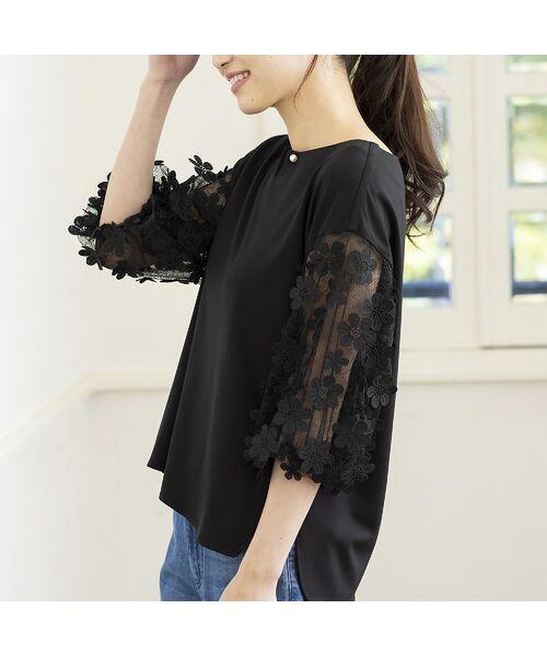 Rose Tiara / ローズティアラ シャツ・ブラウス   3D刺繍袖ブラウス   詳細16