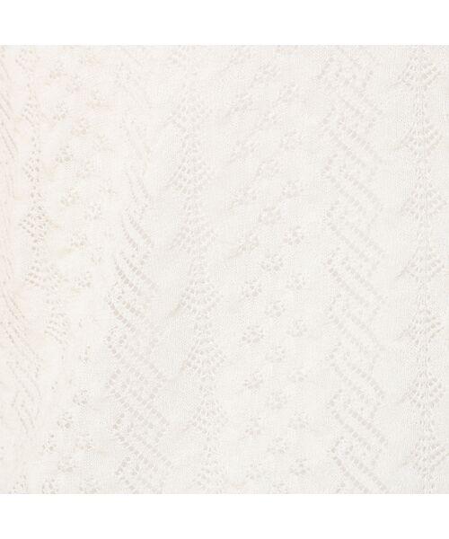 Rose Tiara / ローズティアラ ニット・セーター | フリル袖透かし編みニットカーディガン | 詳細2