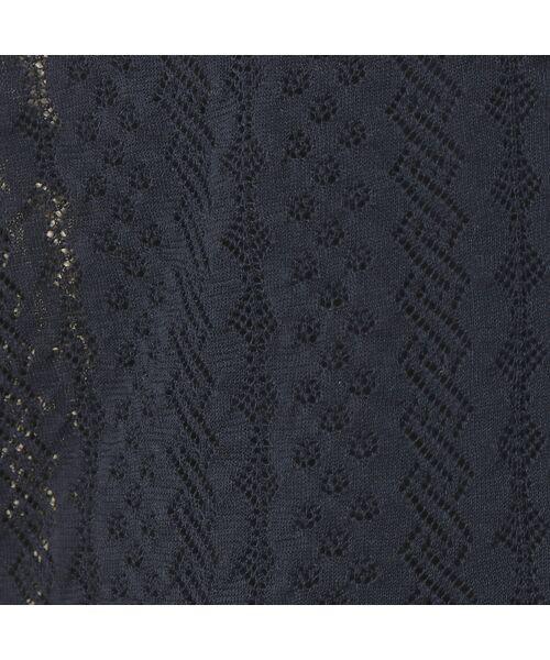 Rose Tiara / ローズティアラ ニット・セーター | フリル袖透かし編みニットカーディガン | 詳細4