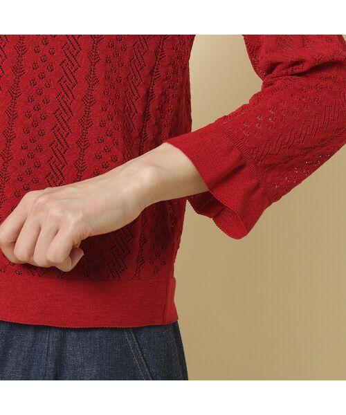 Rose Tiara / ローズティアラ ニット・セーター | フリル袖透かし編みニットカーディガン | 詳細9
