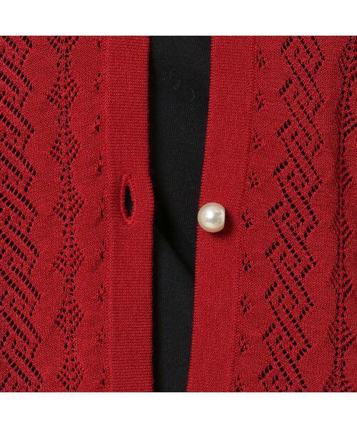 Rose Tiara / ローズティアラ ニット・セーター | フリル袖透かし編みニットカーディガン | 詳細10