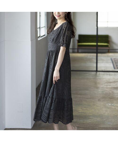Rose Tiara / ローズティアラ ミニ丈・ひざ丈ワンピース   アイレット刺繍ワンピース   詳細1