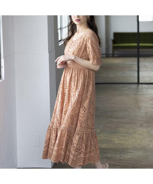 Rose Tiara / ローズティアラ ミニ丈・ひざ丈ワンピース   アイレット刺繍ワンピース   詳細2