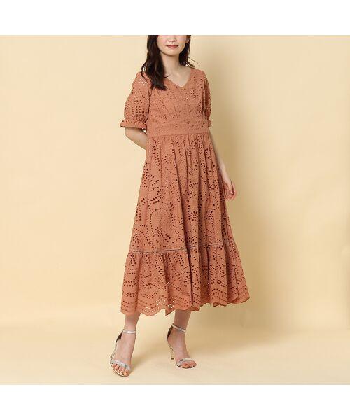 Rose Tiara / ローズティアラ ミニ丈・ひざ丈ワンピース   アイレット刺繍ワンピース   詳細3