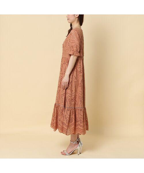 Rose Tiara / ローズティアラ ミニ丈・ひざ丈ワンピース   アイレット刺繍ワンピース   詳細4