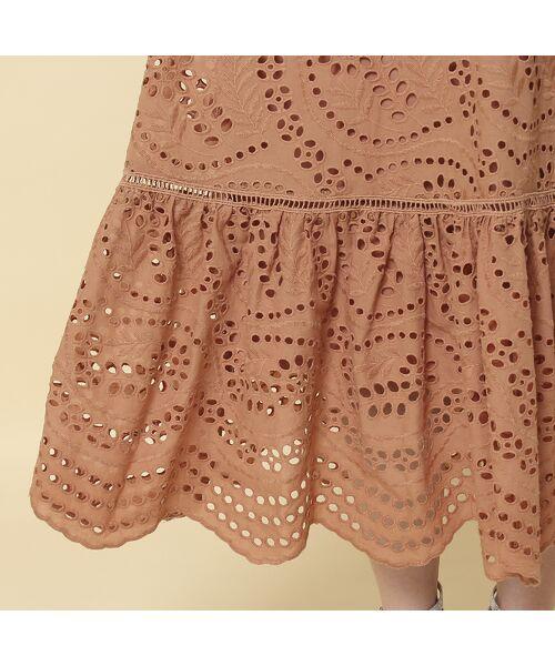 Rose Tiara / ローズティアラ ミニ丈・ひざ丈ワンピース   アイレット刺繍ワンピース   詳細8
