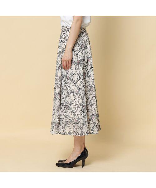 Rose Tiara / ローズティアラ ミニ・ひざ丈スカート   リリー刺繍フレアスカート   詳細3