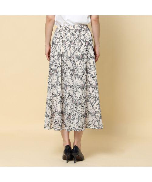 Rose Tiara / ローズティアラ ミニ・ひざ丈スカート   リリー刺繍フレアスカート   詳細4
