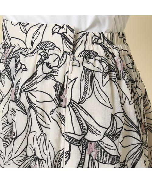 Rose Tiara / ローズティアラ ミニ・ひざ丈スカート   リリー刺繍フレアスカート   詳細6
