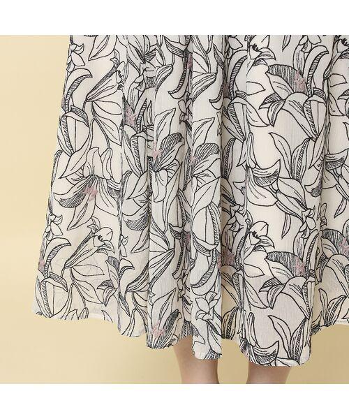 Rose Tiara / ローズティアラ ミニ・ひざ丈スカート   リリー刺繍フレアスカート   詳細7