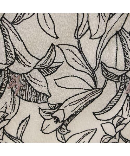 Rose Tiara / ローズティアラ ミニ・ひざ丈スカート   リリー刺繍フレアスカート   詳細8
