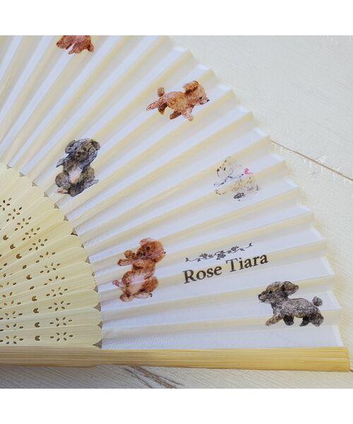 Rose Tiara / ローズティアラ ハット | 【 ouchi de Rose 】トイプードルプリント扇子 | 詳細1
