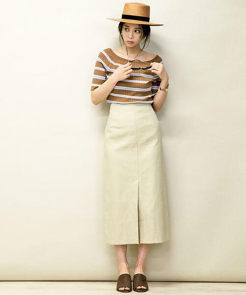 Rouge vif la cle / ルージュ・ヴィフ ラクレ ミニ・ひざ丈スカート   セミタイトスリットスカート   詳細9
