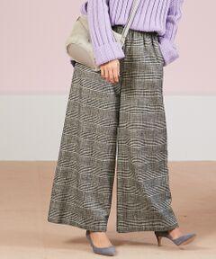 """今季大本命の""""グレンチェック""""!Rouge vif la cleからパンツやタイトスカート、ブラウスがラインナップ。"""