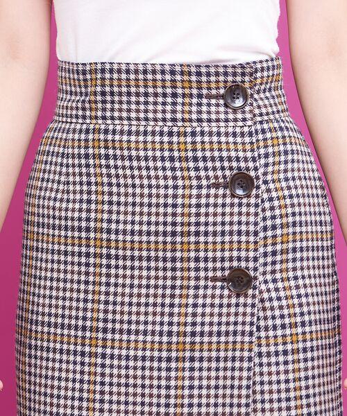 Rouge vif la cle / ルージュ・ヴィフ ラクレ ミニ・ひざ丈スカート   カラーチェックラップスカート   詳細5