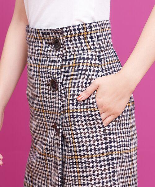 Rouge vif la cle / ルージュ・ヴィフ ラクレ ミニ・ひざ丈スカート   カラーチェックラップスカート   詳細6