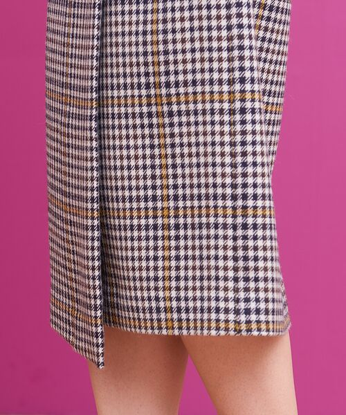 Rouge vif la cle / ルージュ・ヴィフ ラクレ ミニ・ひざ丈スカート   カラーチェックラップスカート   詳細7