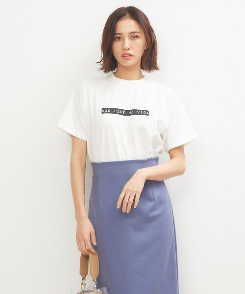 Rouge vif la cle / ルージュ・ヴィフ ラクレ Tシャツ   Lachement コーマ度詰天竺Tシャツ(ホワイト)
