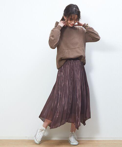 Rouge vif la cle / ルージュ・ヴィフ ラクレ スカート   サテンギャザーイレギュラーヘムスカート1【予約】   詳細2