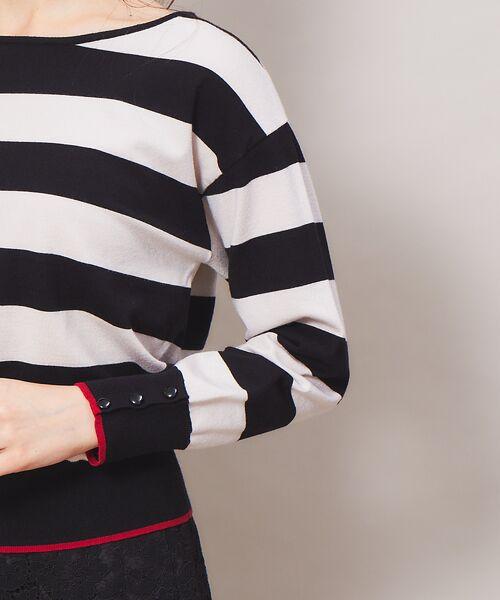 Rouge vif la cle / ルージュ・ヴィフ ラクレ ニット・セーター | バイカラー袖ボタンニット【予約】 | 詳細15