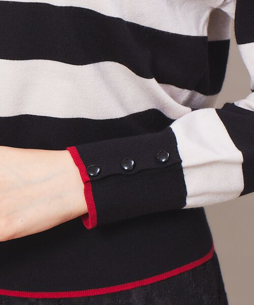 Rouge vif la cle / ルージュ・ヴィフ ラクレ ニット・セーター | バイカラー袖ボタンニット【予約】 | 詳細16