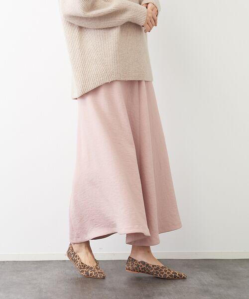 Rouge vif la cle / ルージュ・ヴィフ ラクレ ロング・マキシ丈スカート | アンティークジョーゼットスカート(ピンク)