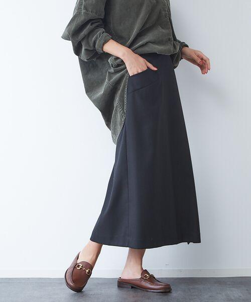 Rouge vif la cle / ルージュ・ヴィフ ラクレ ロング・マキシ丈スカート | サキソニーポケット付スカート | 詳細12