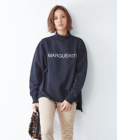 一枚着として大活躍のスウェットプルオーバー。<br>冬まで暖かく着てる裏毛タイプです。<br>ボトルネックのデザインで寒い時期でも暖かく、首をすっきりと見せてくれます。<br>前後差のあるデザインでこなれた印象に。<br>細身のパンツと合わせても、あえてボリューム感のあるスカートと合わせても◎<br>ロゴの「MARGUERITE」は「マーガレット」のフランス語表記です。<br><br>ベージュ モデル:H165 B80 W59 H85 着用サイズ:F<br>ブラック モデル:H165 B80 W59 H85 着用サイズ:F<br><BR>