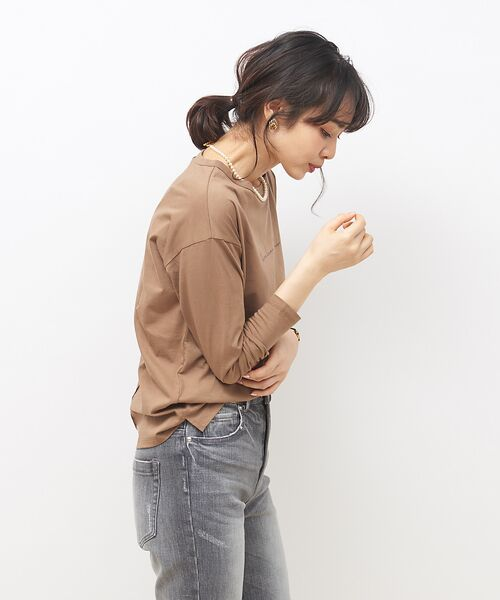 Rouge vif la cle / ルージュ・ヴィフ ラクレ Tシャツ | 【MICA&DEAL】WEB限定ロゴプリントロングTシャツ【予約】 | 詳細3