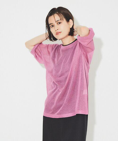 Rouge vif la cle / ルージュ・ヴィフ ラクレ ニット・セーター | シアーニットTシャツ【予約】 | 詳細4
