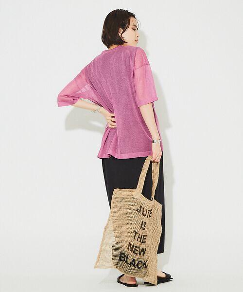 Rouge vif la cle / ルージュ・ヴィフ ラクレ ニット・セーター | シアーニットTシャツ【予約】 | 詳細5