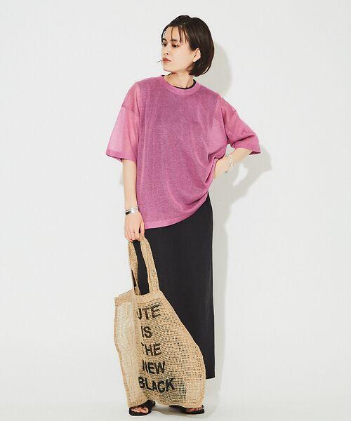 Rouge vif la cle / ルージュ・ヴィフ ラクレ ニット・セーター | シアーニットTシャツ【予約】 | 詳細6